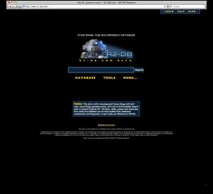 R2-DB Home Screen