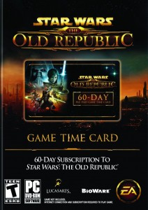 Star Wars: The Old Republic 60-day Game Card